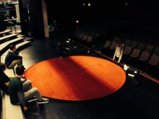 TEDxYouth@SHC student-leaders install the iconic TED rug.